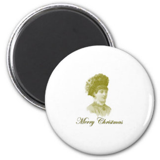 Victorian Christmas 3 2 Inch Round Magnet