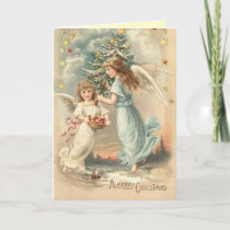 Victorian Christmas Angel Card