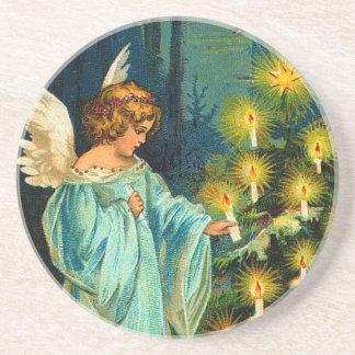 Victorian Christmas Angel Drink Coaster