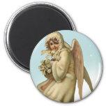 Victorian Christmas Angel Girl Fridge Magnet