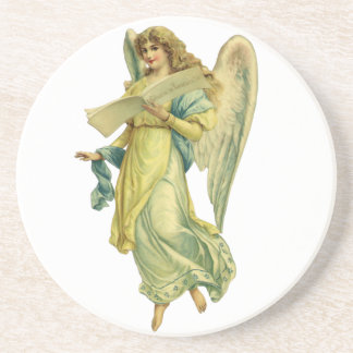 Victorian Christmas Angel, Gloria in Excelsis Deo Coaster