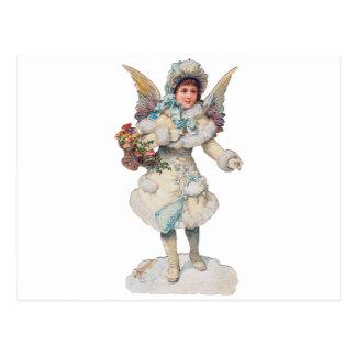 Victorian Christmas Angel Post Card