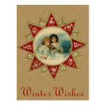 Victorian Christmas Angels Postcard