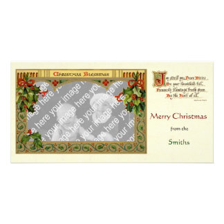 Victorian Christmas Blessing Photocard Template