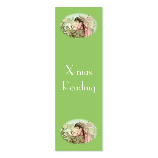 Victorian Christmas bookmark Business Card