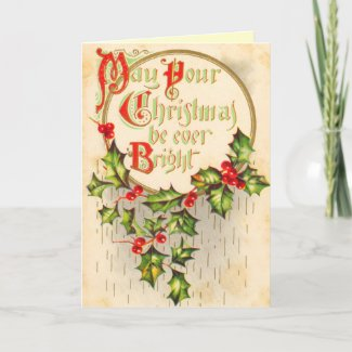 Victorian Christmas Card card