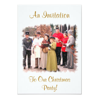 VICTORIAN CHRISTMAS CAROL SINGERS CARD
