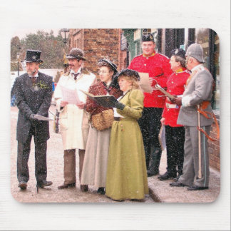 VICTORIAN CHRISTMAS CAROL SINGERS MOUSE PAD