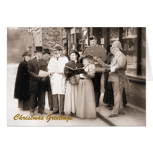 VICTORIAN CHRISTMAS CAROL SINGERS UK CARD