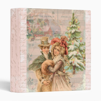 Victorian Christmas Couple gifts Binder