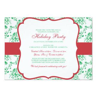 Victorian Christmas Damask Invitation