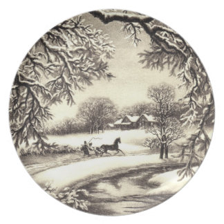 Victorian Christmas Dinner Plate