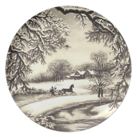 Victorian Christmas Dinner Plate