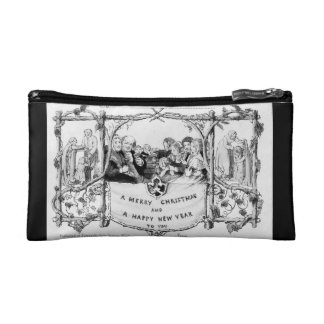 Victorian Christmas double-sided Cosmetic Bag