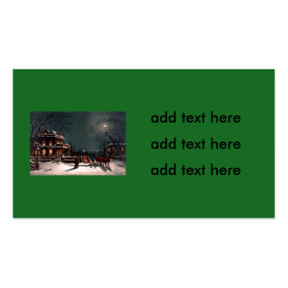 Victorian Christmas Eve Party Mansion Sleigh Snow Business Card