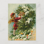 "Victorian Christmas Faerie and Santa Holiday Postcard<br><div class=""desc"">Very popular postcard! BEST SELLER! Old fashion Christmas cards brought back to life with the help of modern technology. Vibrant colors and beautiful printing. Postcards are an easy way to say Merry Christmas! Don't forget we have postcard postage too!</div>"