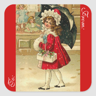 Victorian Christmas Gift Tag Stickers