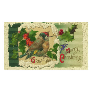 Victorian Christmas Gift Tags Business Card Template