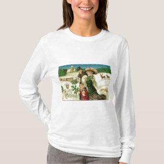 Victorian Christmas Greeting T-Shirt