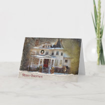 Victorian Christmas Home Holiday Card