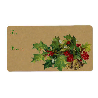 Victorian Christmas Labels