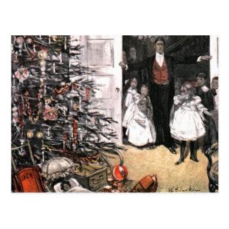 Victorian Christmas Morning Postcard
