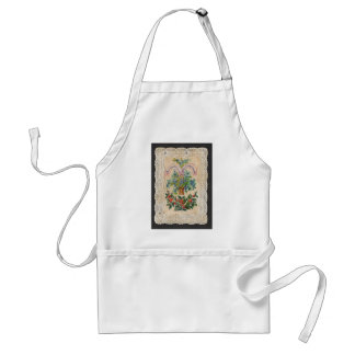 Victorian Christmas New Year Greeting Card 1870 Adult Apron