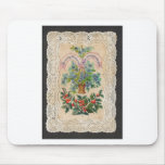 Victorian Christmas New Year Greeting Card 1870 Mouse Pad