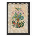 Victorian Christmas New Year Greeting Card 1870 Postcard