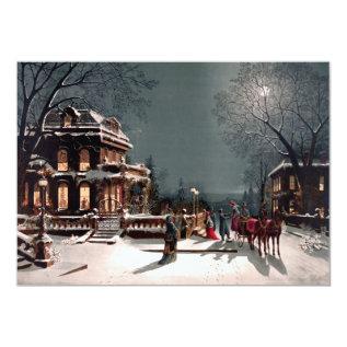 Victorian Christmas Party Invitation at Zazzle