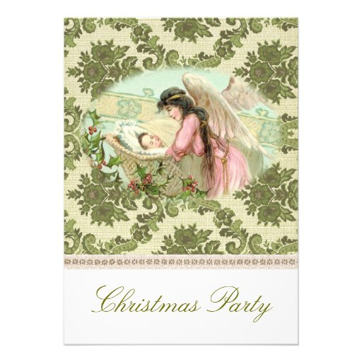 Victorian Christmas party Invite