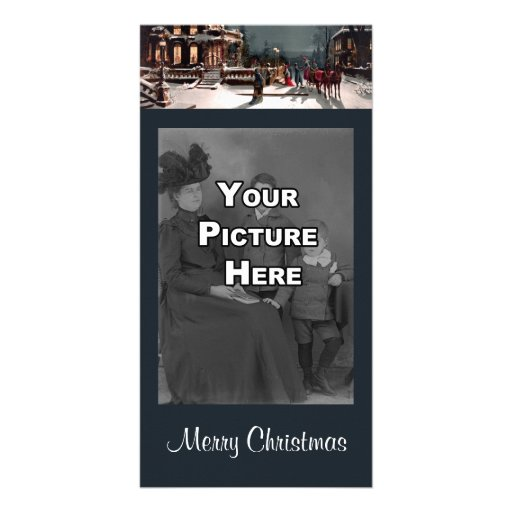 Victorian Christmas Party Photo Card