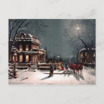 Victorian Christmas Party Vintage Postcard