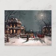 Victorian Christmas Party Vintage Postcard