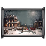 Victorian Christmas Party Vintage Tray