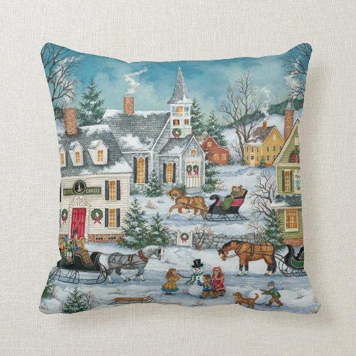 Victorian christmas Pillows Zazzle
