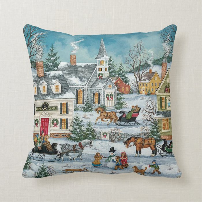 Victorian Outdoor Pillows : Victorian christmas Pillows Zazzle