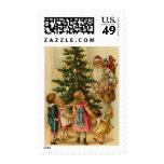 Victorian Christmas Postage Stamps