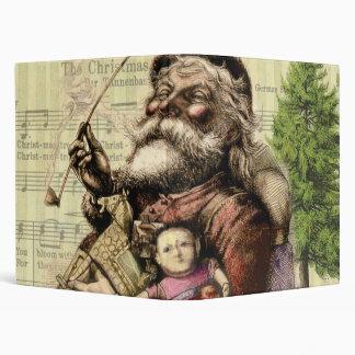 Victorian Christmas Santa Claus Artwork Painting Binder
