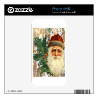 Victorian Christmas Santa Decal For The iPhone 4S