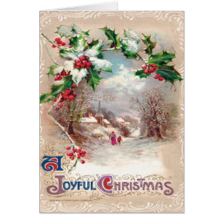 Victorian Christmas Scene Greeting Card