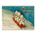 Victorian Christmas Snow Baby Postcards