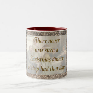 Victorian Christmas Two-Tone Coffee Mug