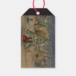Victorian Christmas Village Gift Tags