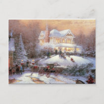 Victorian Christmas Winter Scene Holiday Postcard