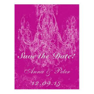 Victorian chrystal chandelier postcard