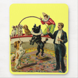 Victorian Circus Dogs, Trainer Clown Mouse Pad