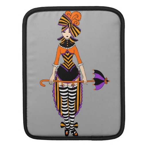Victorian Circus Girl laptop sleeve Sleeve For iPads