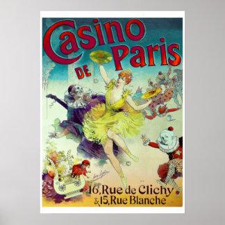 Victorian circus illustration French Paris cabaret Poster