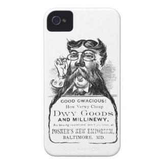 Victorian clásico que hace publicidad del pedazo Case-Mate iPhone 4 carcasa
